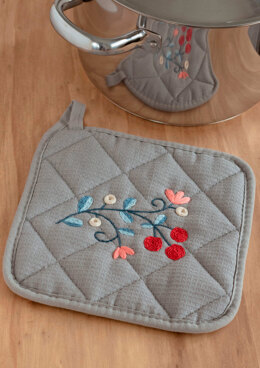 Anchor Embroidered Pot Holder - ANC0003-64 - Downloadable PDF