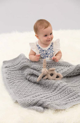 Cable Your Love Blanket in Red Heart Soft Baby Steps Solids - LW4831 - Downloadable PDF