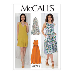 McCall's Misses' Dresses M7774 - Sewing Pattern