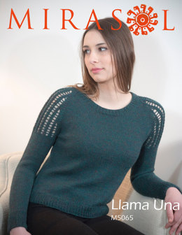 Lace Shoulder Pullover in Mirasol Llama Una - M5065