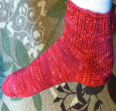 Toe-up, After-Thought, Simple Bed Sock
