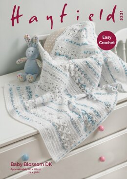 Blanket in Hayfield Baby Blossom DK - 5231 - Downloadable PDF