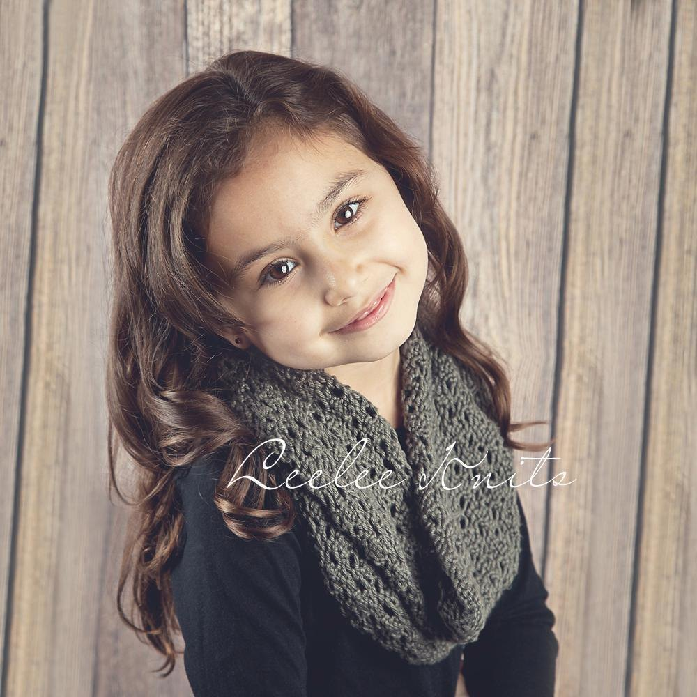 Soft Lace knit infinity scarf pattern Knitting pattern by ...