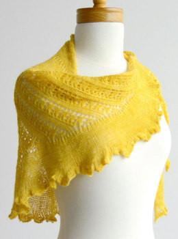 Shattered Sun Shawl in Sweet Georgia Cashsilk Lace