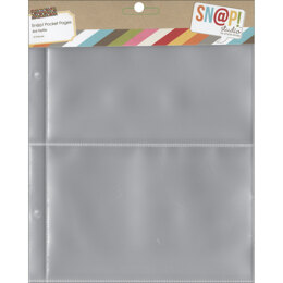 """Simple Stories Sn@p! Pocket Pages For 6""""X8"""" Binders 10/Pkg - (2) 4""""X6"""" Pockets"""