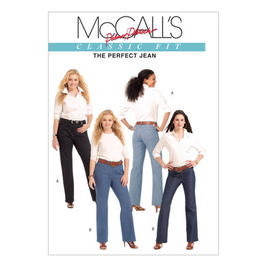 McCall's Misses'/Women's Jeans M5894 - Sewing Pattern