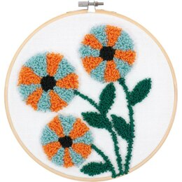 Dimensions Punch Needle Kit - Modern Floral - 8in