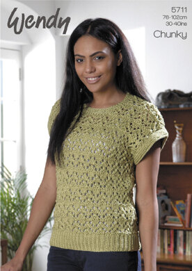 Lacy Top in Wendy Supreme Cotton Chunky - 5711