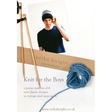 Knits for Boys Poster by Erika Knight