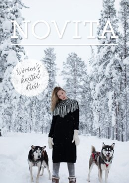 Women's Knitted Dress in Novita Nordic Wool - Downloadable PDF