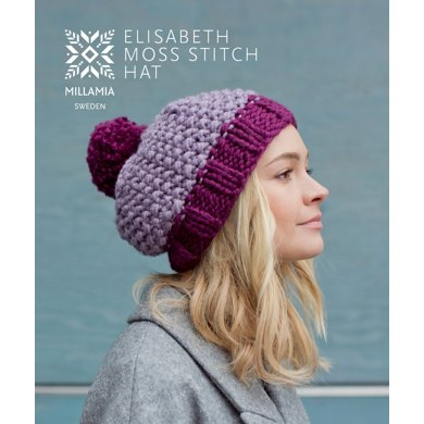 Elisabeth Moss Hat In Millamia Naturally Soft Super Chunky
