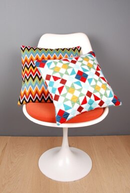 Vervaco Rhombuses Long Stitch Cushion Kit - 40 x 40 cm