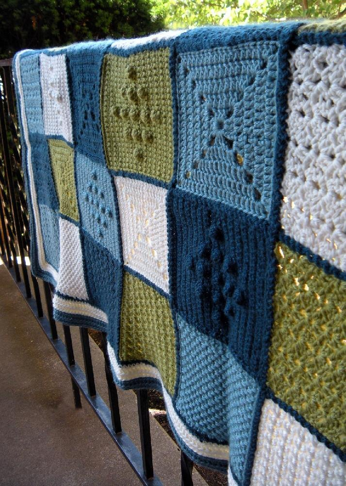 Stitch Pattern Sampler Blanket Crochet Pattern By Amy