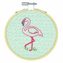 Dimensions Embroidery Kit with Hoop - Flamingo Fun (Crewel)