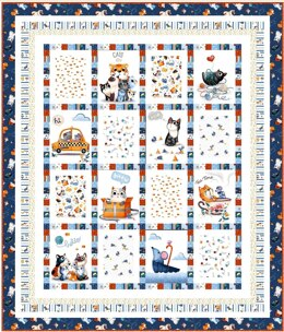 Michael Miller Fabrics Feline Friends Meow About Town Kit
