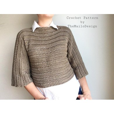 Adult Oversized Fit Sweater Crochet Pattern By Themailodesign