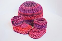 Chevron Booties and Hat