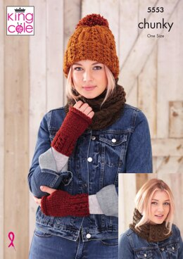 Apparel Accessories in King Cole Chunky - 5553 - Downloadable PDF