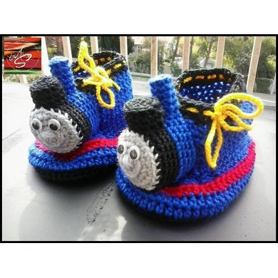 Thomas The Tank Engine Slippers Crochet Pattern By Awkwardstitchuations