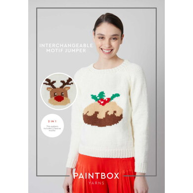 Interchangeable Motif Jumper in Paintbox Yarns Simply Chunky - Downloadable PDF
