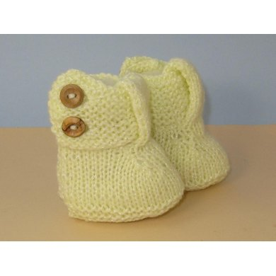 Easy Baby Big T Bar 2 Button Booties