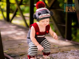 Spunky Sock Monkey Costume
