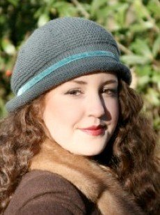 Retro Cloche Hat in Susan Crawford Excelana DK