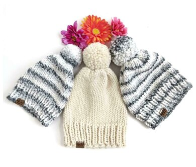 Simple Chunky Knit Hat
