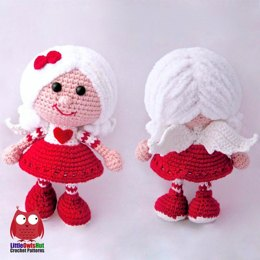 Doll in a Valentine outfit