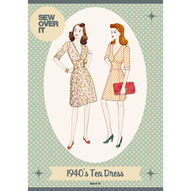Sew Over It 1940's Tea Dress Sewing Pattern - Sewing Pattern