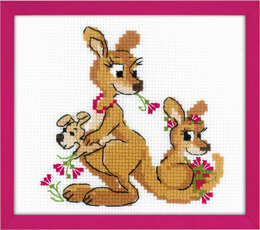 Riolis Kangaroo Family Cross Stitch Kit - Multi