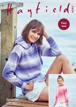 Sweater and Jacket in Hayfield Spirit DK - 8265 - Downloadable PDF