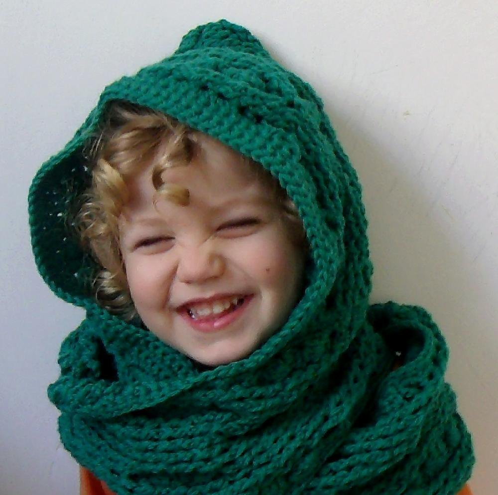 Scoodie Hooded Scarf Cable and Cluster Crochet pattern by ThomasinaC ...