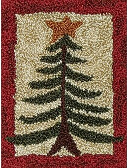 Rachel's of Greenfield Punch Needle Kit - Pine Tree - 2.875in x 4in
