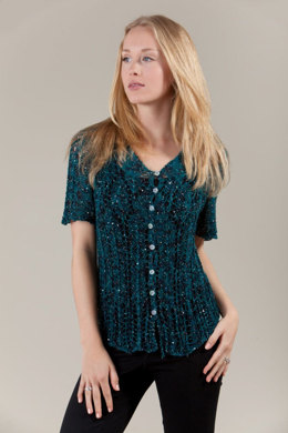 Suzanne Lace Cardi in Artyarns Beaded Silk and Sequins Light - I218