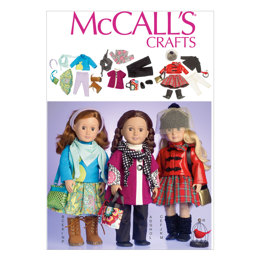 """McCall's Clothes For 18"""" Doll M7006 - Paper Pattern Size One Size Only"""