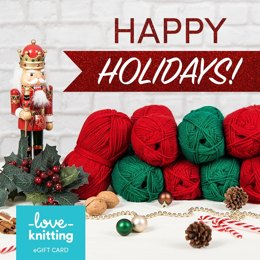 LoveKnitting eGift Card - Happy Holidays