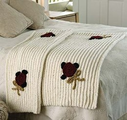 Retro Chenille Throw in Lion Brand Wool-Ease Thick & Quick - 30039
