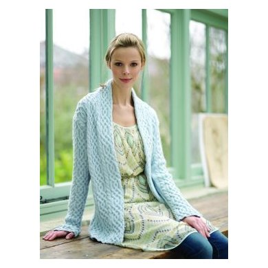 """""""Cabled Jacket"""" : Jacket Knitting Pattern for Women in Debbie Bliss DK 