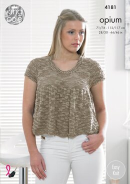 Frilled Top And Frilled Cardigan in King Cole Opium - 4181 - Downloadable PDF