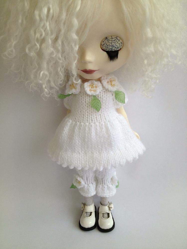 Blooming Lovely Dress And Bloomers Set For Blythe Doll Knitting