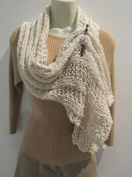 Pearl Frost Scarf