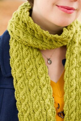 Cables & Knots Reversible Scarf