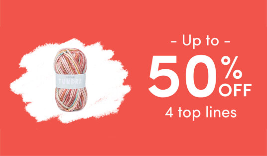 Up to 50 percent off 4 top lines. Today only!