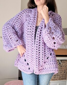 Super Chunky Hexagon Cardigan