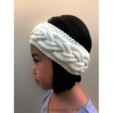 Milky White Cables Headbandear Warmer Knitting Pattern Knitting