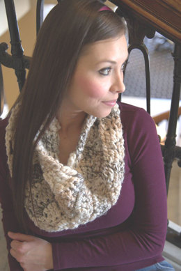 Crochet Muffler in Plymouth Yarn Encore Mega Colorspun - F632 - Downloadable PDF