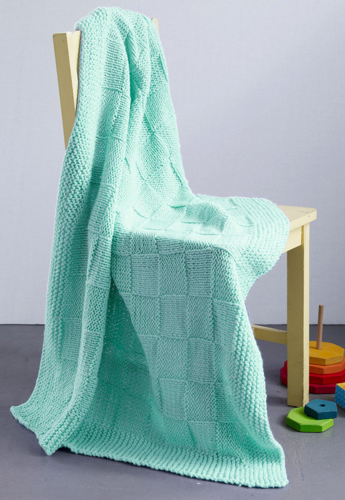 Checkers Baby Blanket In Lion Brand Babysoft L0227