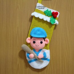 Baseball Player Christmas Stocking