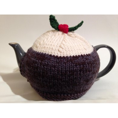 Christmas Pudding Tea Cosy Knitting pattern by Louise Newton